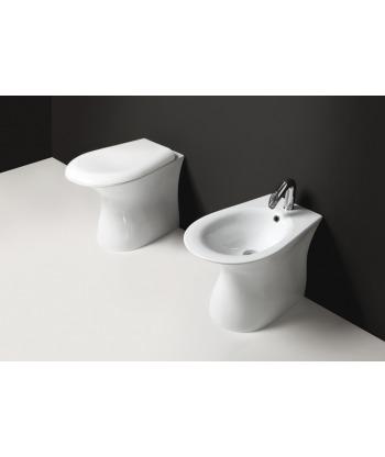 Vaso WC a terra Libera VLSP Nero Ceramica