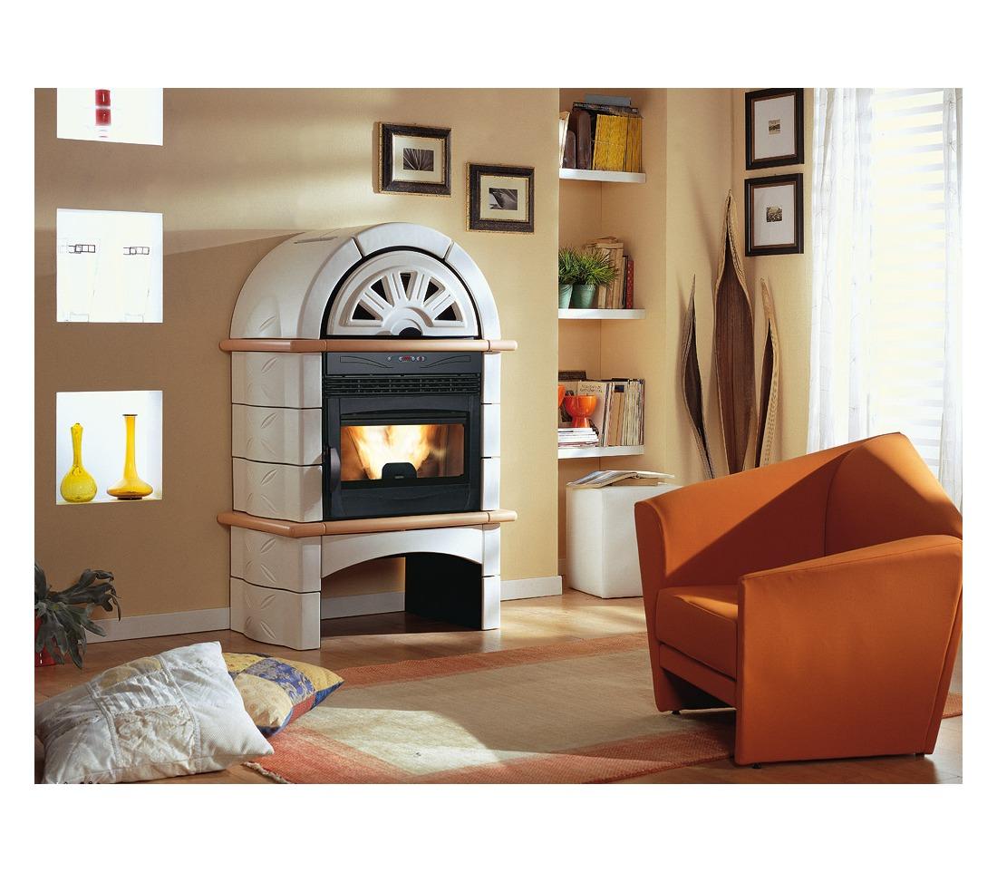 stufa camino pellet fal 1xlp la nordica extraflame piastrelmarmi edil. Black Bedroom Furniture Sets. Home Design Ideas