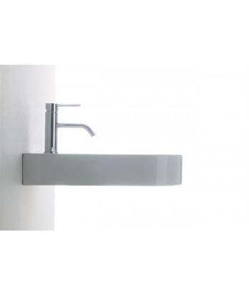 Lavabo 65 sospeso/colonna LA65 Nero Ceramica