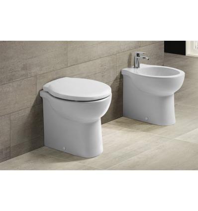 Vaso WC a terra Skill VSNSP Nero Ceramica