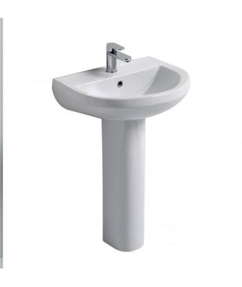 Lavabo 56 sospeso/colonna Skill LS56 Nero Ceramica