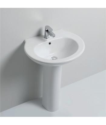 Lavabo 61 sospeso/colonna Skill LS61 Nero Ceramica