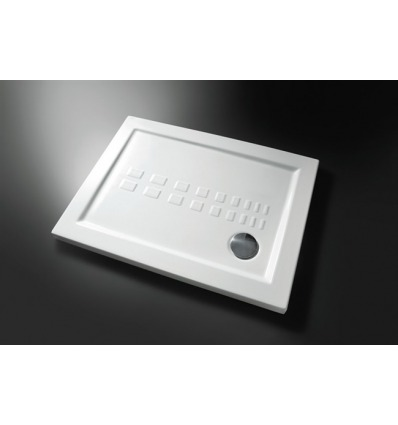 Piatto Doccia rettangolare 70x100 h5,5 Slim Nero Ceramica