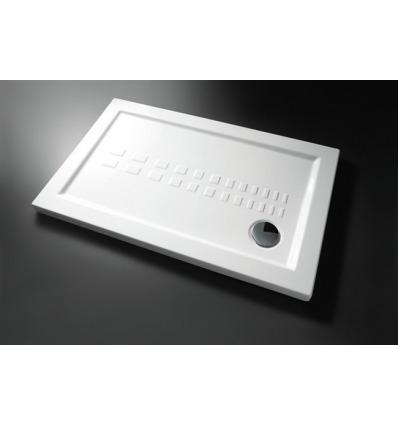 Piatto Doccia rettangolare 70x140 h5,5 Slim Nero Ceramica