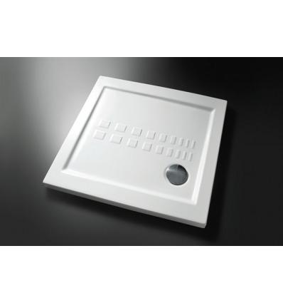 Piatto Doccia rettangolare 80x80 h5,5 Slim Nero Ceramica