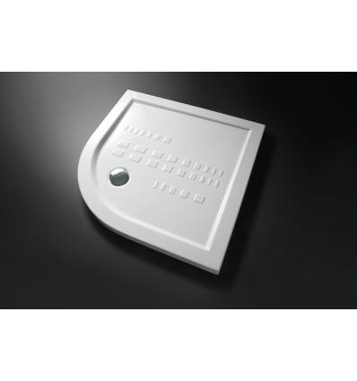 Piatto Doccia angolare 80x80 h5,5 Slim Nero Ceramica