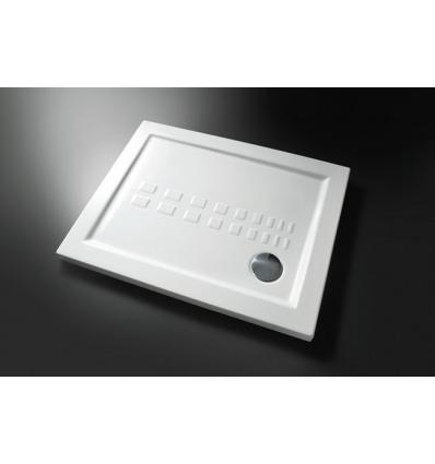 Piatto Doccia rettangolare 80x100 h5,5 Slim Nero Ceramica