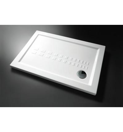 Piatto Doccia rettangolare 80x120 h5,5 Slim Nero Ceramica