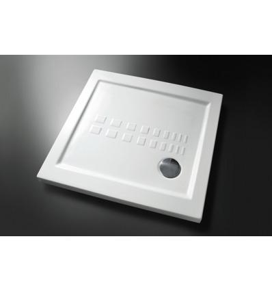 Piatto Doccia rettangolare 90x90 h5,5 Slim Nero Ceramica