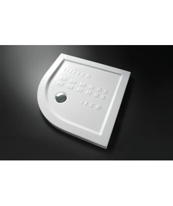 Piatto Doccia angolare 90x90 h5,5 Slim Nero Ceramica