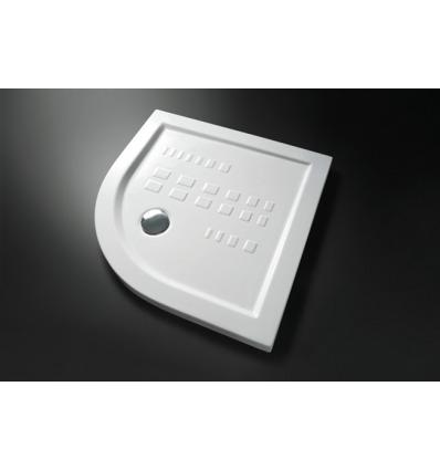 Piatto Doccia angolare 100x100 h5,5 Slim Nero Ceramica