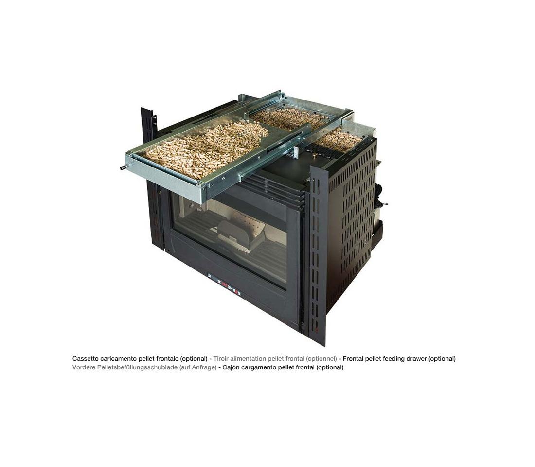 inserto a pellet comfort plus canalizzato la nordica extraflame piastrelmarmi edil. Black Bedroom Furniture Sets. Home Design Ideas