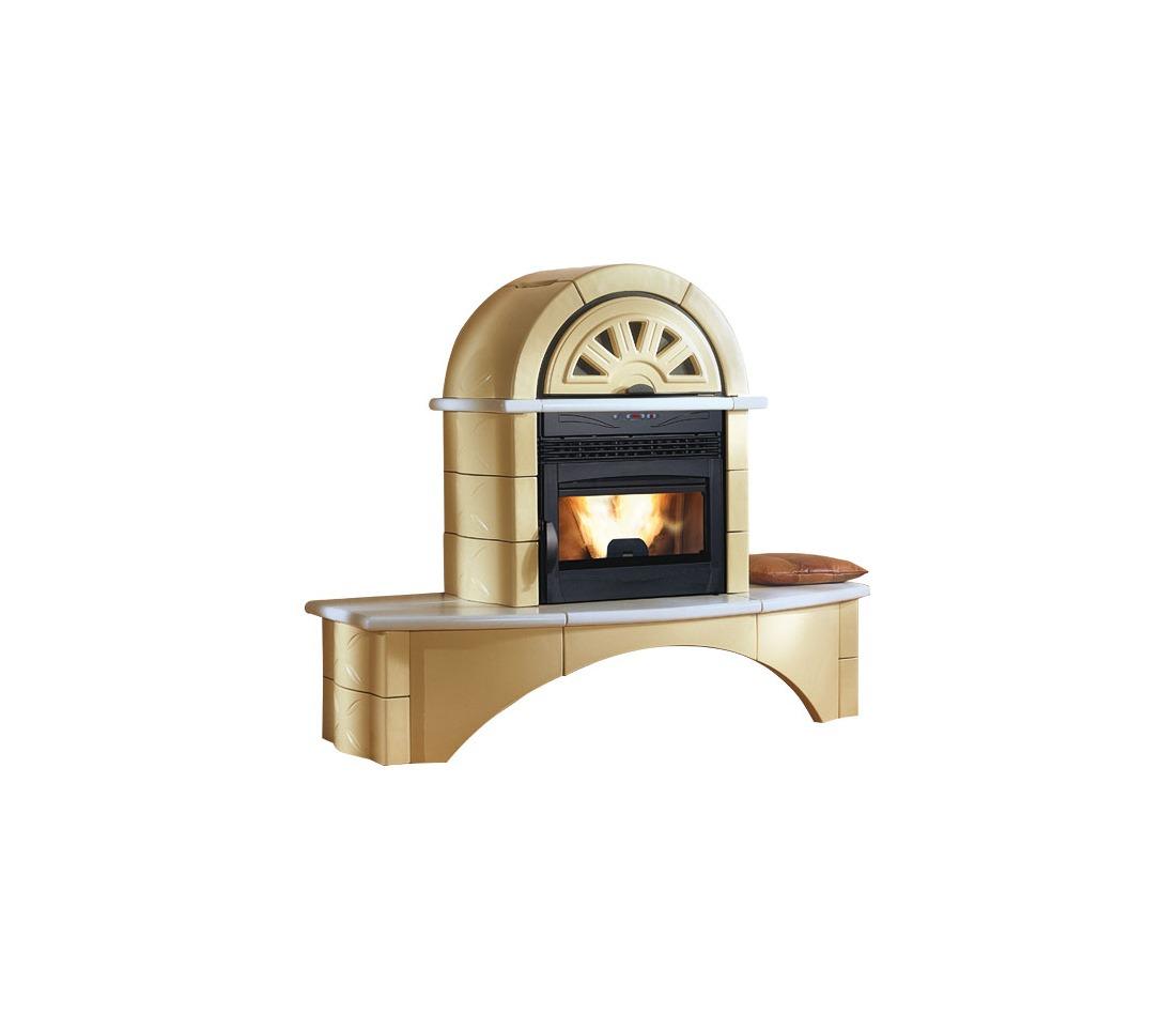 stufa camino pellet fal 1cp 2cp la nordica extraflame piastrelmarmi edil. Black Bedroom Furniture Sets. Home Design Ideas