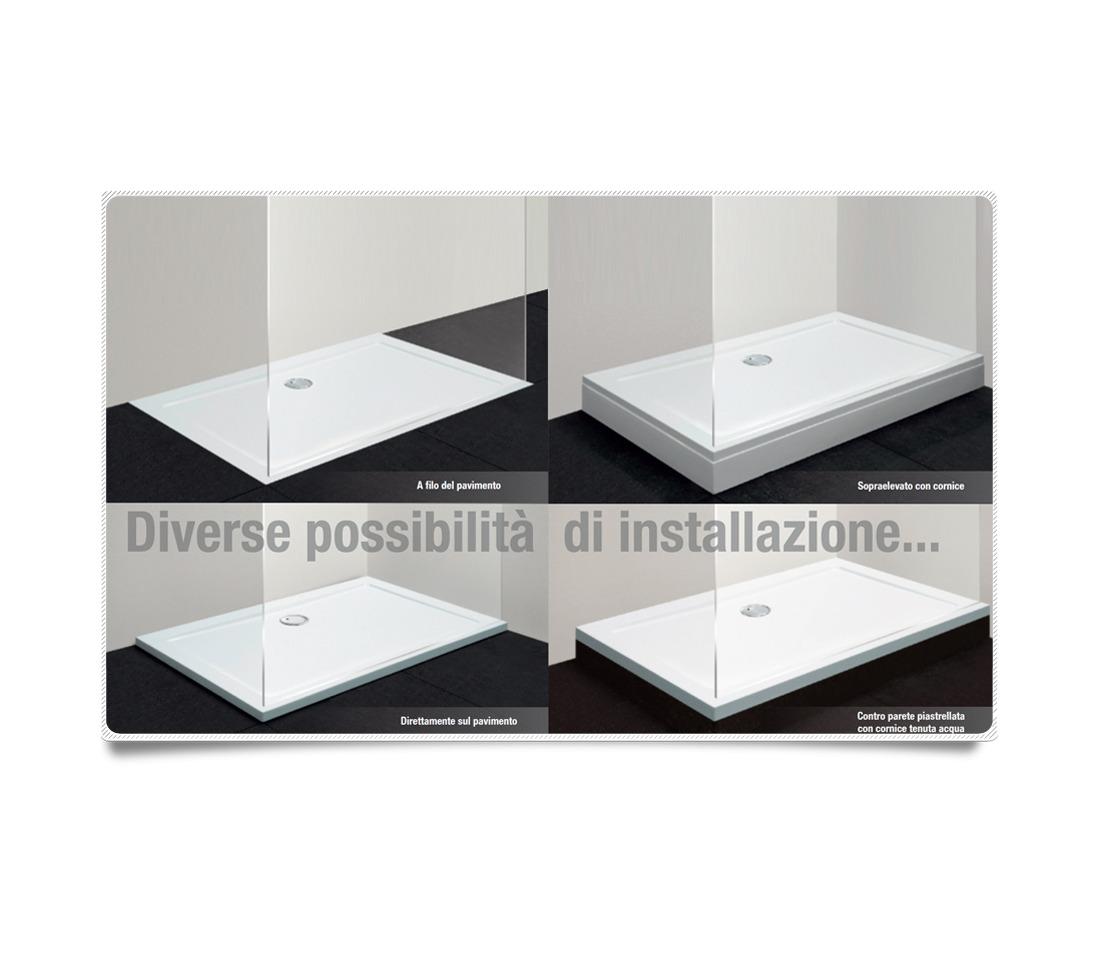 Imagens de #51595C Piatto doccia quadrato 90x90 h3 5 Ercos BP R02 PiastrelMarmi Edil 1100x962 px 3180 Box Banheiro 90 X 90