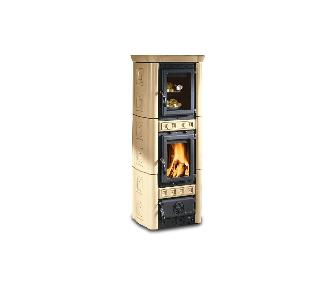 Stufa a legna gaia con forno la nordica extraflame piastrelmarmi edil - Stufa caldaia a legna ...