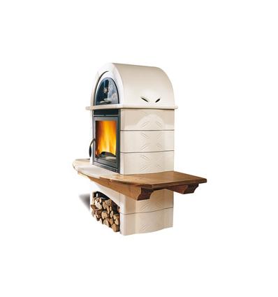 stufa a legna fal 1l la nordica extraflame piastrelmarmi edil. Black Bedroom Furniture Sets. Home Design Ideas