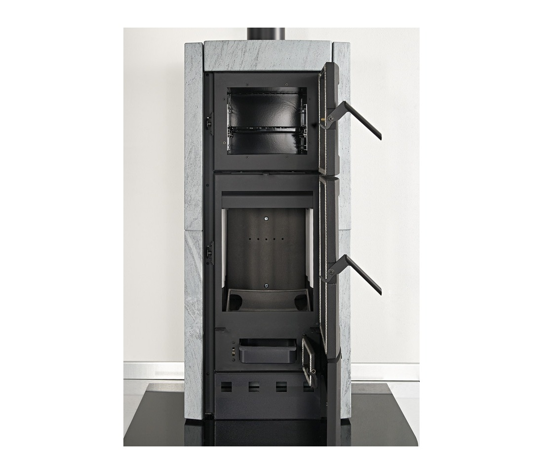 Stufa a legna ester con forno la nordica extraflame - Stufa a pellet con forno prezzi ...