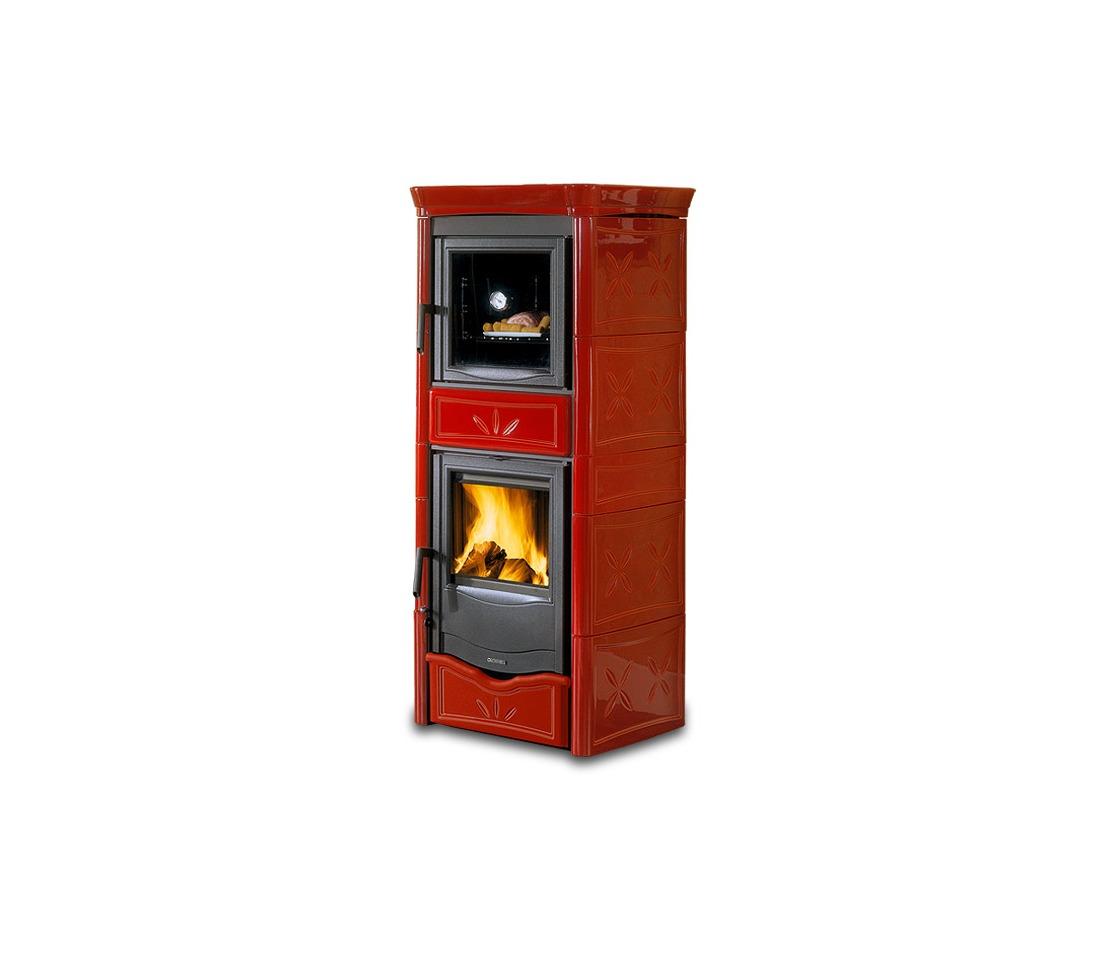Stufa a legna nicoletta con forno evo la nordica - Termostufe a legna con forno ...
