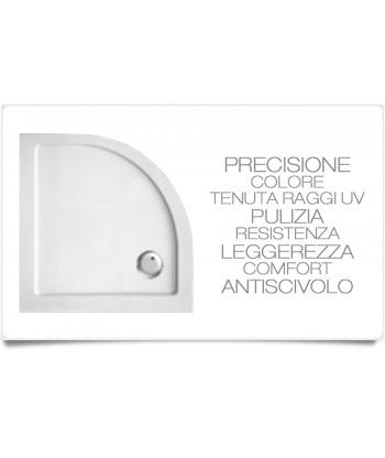 Piatto doccia angolare 100x100 h3.5 Ercos BP R13