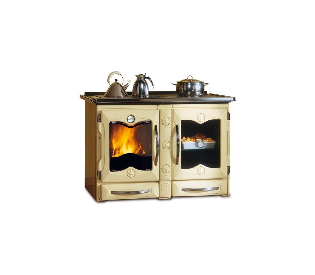 Cucina a legna america la nordica extraflame piastrelmarmi edil - Cucina a legno ...