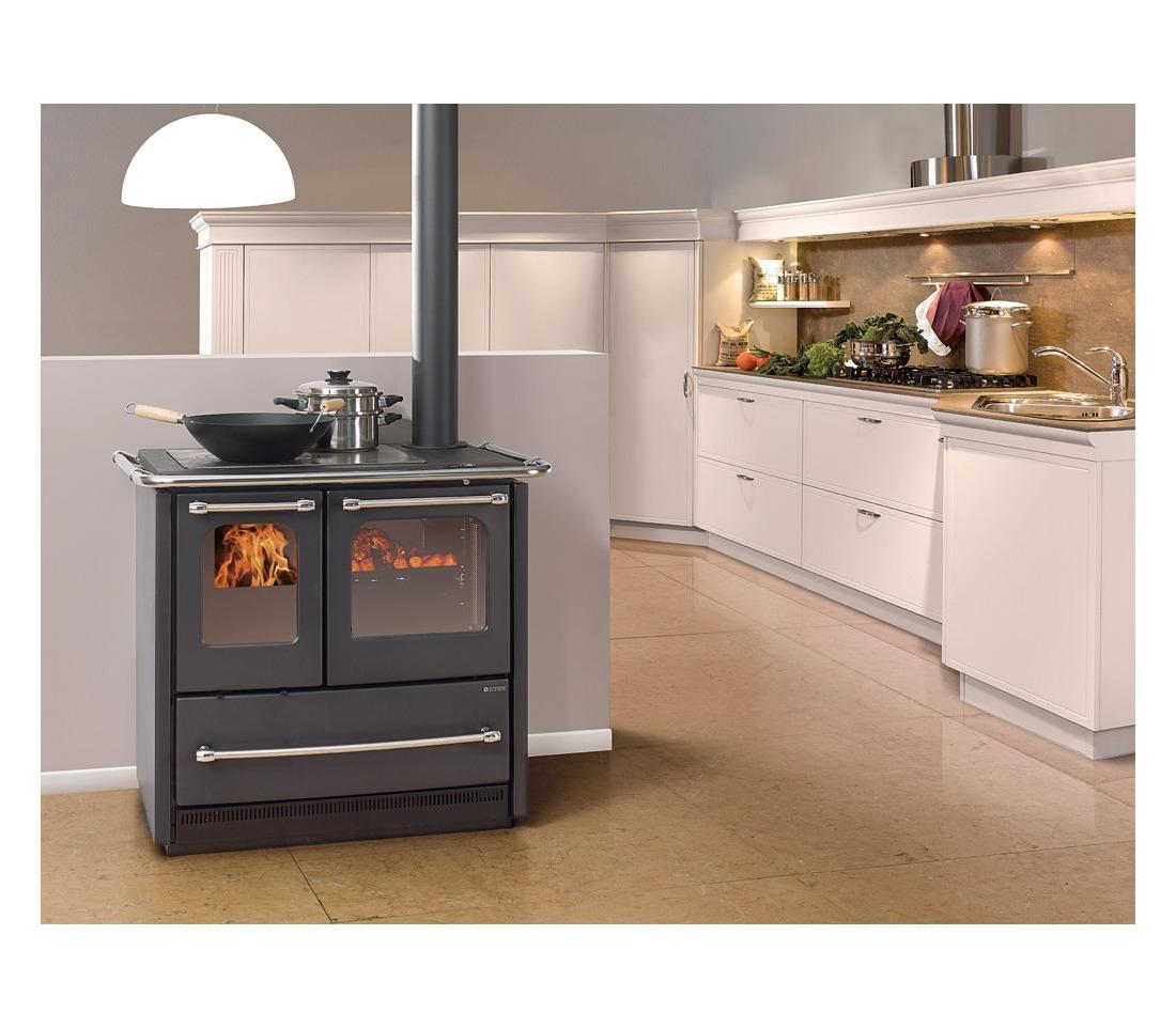 Cucina a legna sovrana easy la nordica extraflame piastrelmarmi edil - Nordica cucina a legna ...
